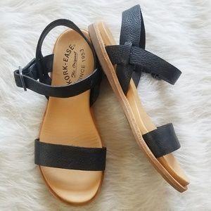 KORK-EASE Sandals Black Leather sandals EUC 6